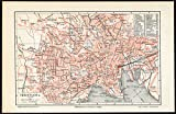 Antique Plan-OSLO-CHRISTIANIA-NORWAY-Meyers-1902