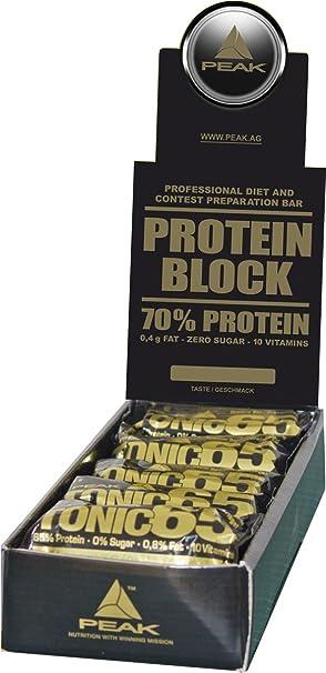 Peak Protein 70 Display - 12 Proteinriegel mit 70% Protein, Vanille