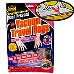 2 x Hand pressed vacuum travel bags 3...