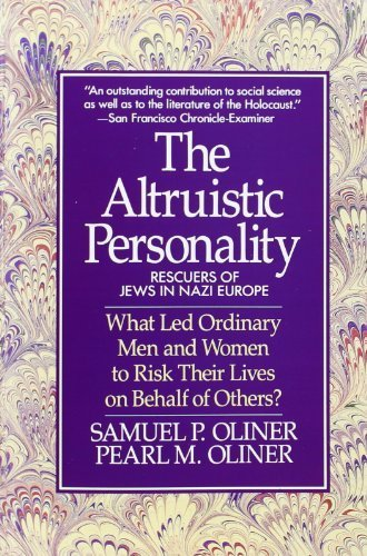Altruistic Personality: Rescuers Of Jews In Nazi Europe Paperback - April 1, 1992, by Samuel P. Oliner