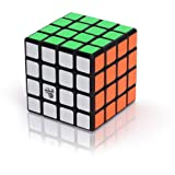 4x4 Speed Cube Puzzle Sticker Toy Game Brain Teaser as Gifts for Kids 4 by 4 Magic Cube Puzzle Twist Black Ganowo