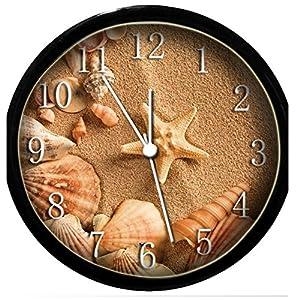 glow in the dark wall clock seashells home