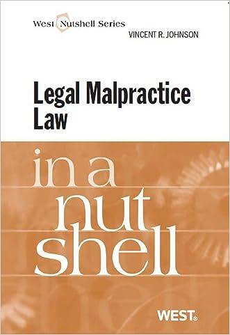 Legal Malpractice Law in a Nutshell