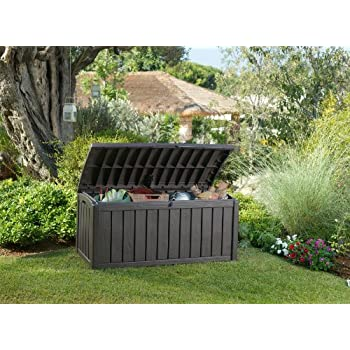 Keter Glenwood Plastic Deck Storage Container Box 101 Gal