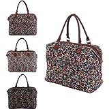 More4bagz Ladies Womens Canvas Shoulder Weekend Floral, Bird, Aztec Print Handbag Holdall Travel Bag