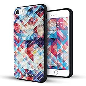 iphone 5s case iphone 5 case,Lizimandu soft TPU textured pattern Case for iphone 5/5s/iphone se(Colorful Pizzle)