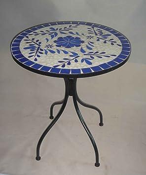 Mosaik tisch bistrotisch beistelltisch rund 60 cm ina de142 for Beistelltisch rund 60 cm