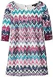 My Michelle Big Girls Crochet Zig Zag Sheath Dress