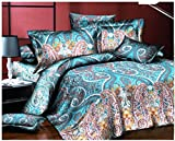 Super India Printed Micro Fiber Double Bed Comforter/Quilt set with two pillow cases (Pigeon)