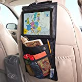 The #1 Most Trusted Car Storage & Backseat Organizer by Decanus - iPad Holder | Eco Material | Must Have Baby Travel Accessories And Kids Toy Storage - Lifetime Warranty and 100% Money Back Guarantee!