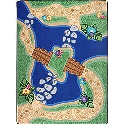 Joy Carpets Kid Essentials Early Childhood Alphabet Trail Rug, Multicolored, 7\'8\