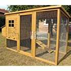 Chicken Coops Imperial Devonshire Large Chicken Coop Hen House Ark Poultry Run Nest Rabbit Hutch Box Suitable For Up To 4 Birds – Integrated Run & Cleaning Tray & Innovative Locking Mechanism