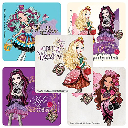 Ever After High Stickers - Birthday Party Supplies & Favors - 75 per Pack