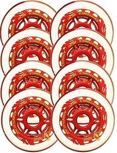 KRYPTONICS 80mm 82a OUTDOOR Inline Skate Wheels ADRENALINE MICRO w/bear