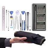 FUJIWARA Cellphone Repair Tool Kit 37-Piece with Tool Bag, Precision Magnetic Tool Set for iPhone, Computer, PC and Electronics (Color: 37 in 1)