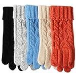 ELMA Women's Wool Knitted Winter Glov...