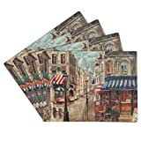 Benson Mills Cork Placemats, Café Paris, Set of 4
