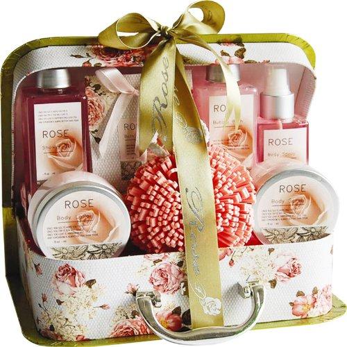 Victorian Rose Romance Spa Bath and Body Gift Basket Set