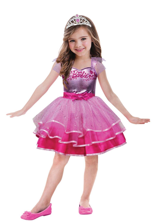 Amscan 999547 – Kinderkostüm Barbie Ballett, circa 8 – 10 Jahre, Größe 132, pink als Weihnachtsgeschenk