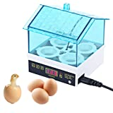 Ogori Incubator for Chicken Eggs, Mini Automatic Egg clear Incubator Digital Hatcher 4 Eggs Hatching Machine Automatic Temperature Control for Chickens, Ducks, Quails, Pigeons