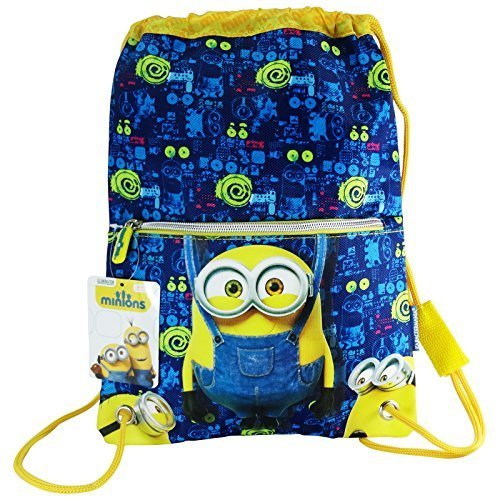 Minions-Bob-Drawstring-Gym-Backpack-Daypack-Travel-Bag-Slim