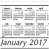 """AT-A-GLANCE Desk Pad Calendar 2017, Compact, 17-3/4 x 10-7/8"""" (SK14-00)"""