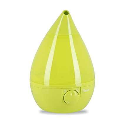 Crane Drop Shape Ultrasonic Cool Mist Humidifier with 2.3 Gallon output per day - Green