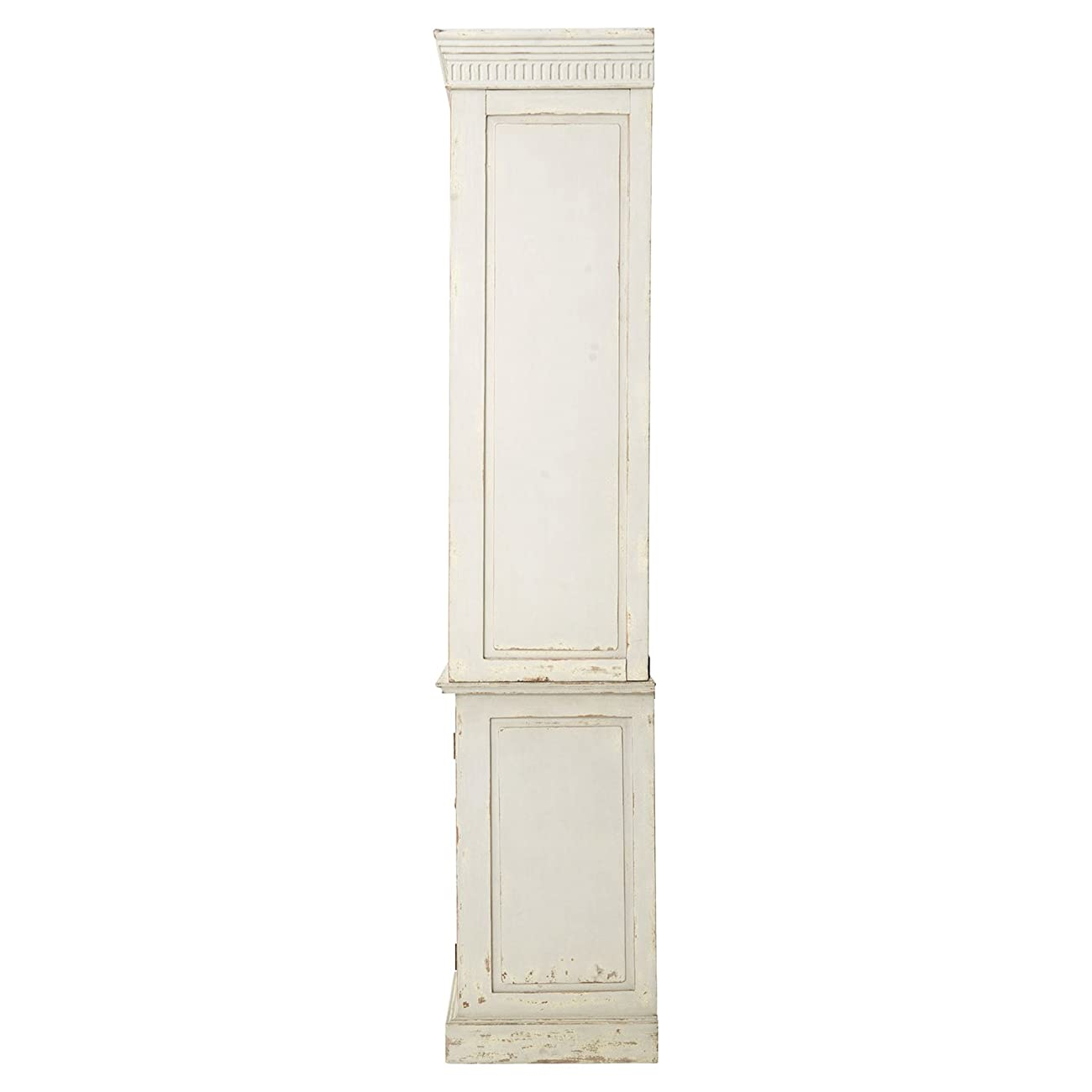 Laurine French Country Rustic Ivory Arch Wood Cabinet 3