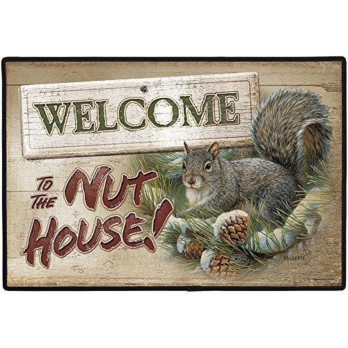 Welcome To The Nut House Funny Squirrel Indoor/Outdoor Welcome Doormat Rug