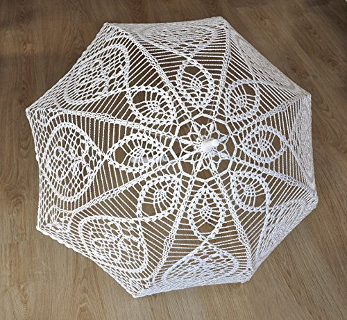 Victorian Parasols Crochet Lace Umbrella - Wedding Parasol $124.99 AT vintagedancer.com