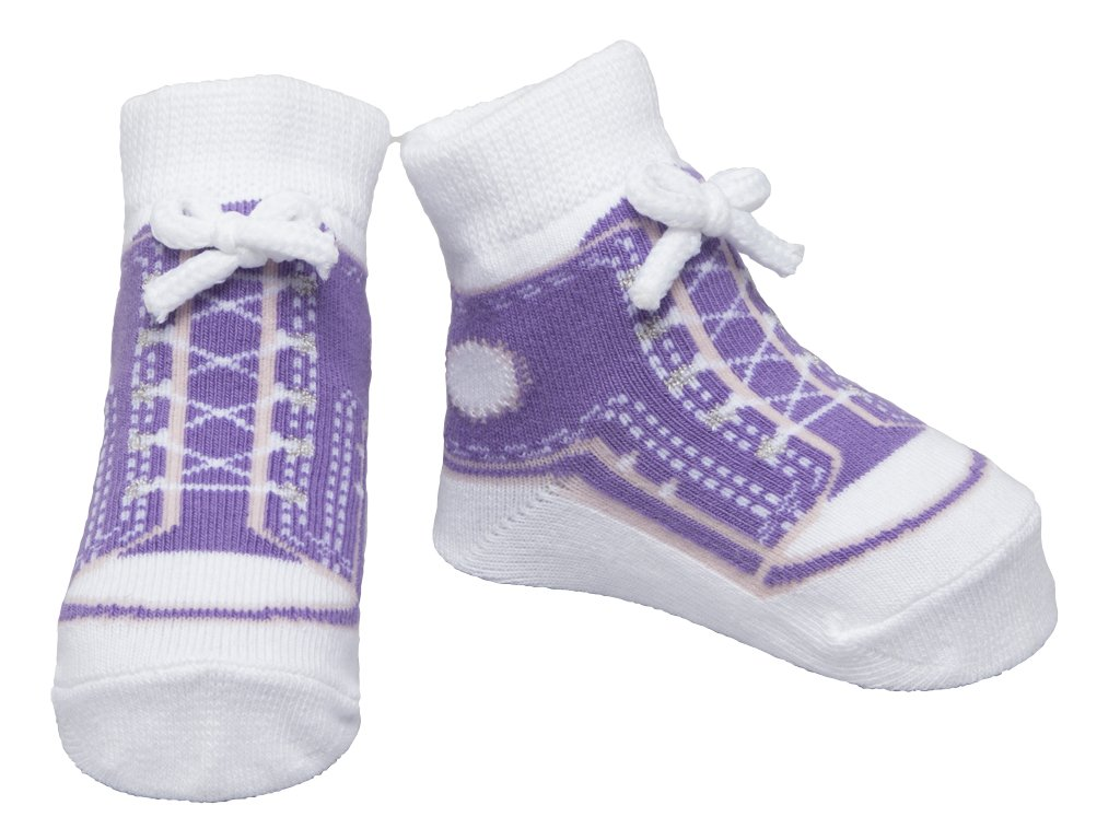 These socks are really adorable AND really practical for a baby from birth to 12 months. They look like basketball shoes (which would NOT be practical for a new baby) bur are really socks that can be worn around the crib and when up/5().