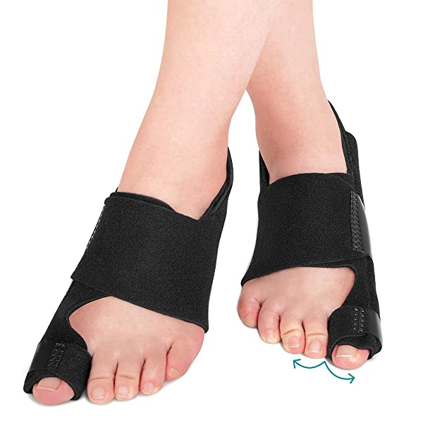 AVIDDA Bunion Corrector and Bunion Relief, Bunion Splint Big Toe Straightener Corrector Foot Pain Relief for Hallux Valgus Bunion Support Brace for Men Women (One Size) 1 Pair (Color: 1 Pair)