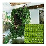 MS-Super-mehr-72-Pocket-Vertikal-Aufhngen-Flower-Vegetarier-Kruter-Pflanzen-Grow-Staubbeutel-Wand-Pflanzgef-Decor-to323-schwarz