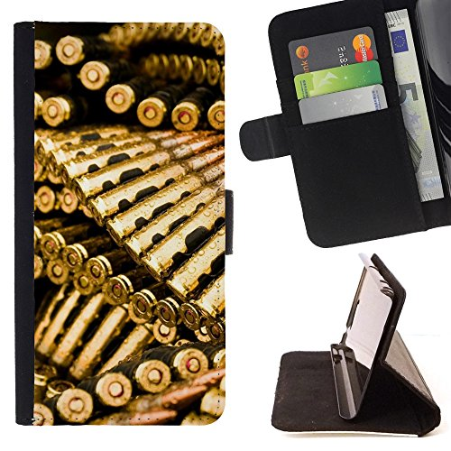 Jordan Colourful Shop - Golden Bullets Ammo For Apple Iphone 6 - Leather Cover Case High Impact Absorption Case -