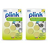 Plink Washer and Dishwasher Freshener Phosphate and Bleach Free, Deodorizer and Cleaner, 8 Tablets, 8-Count