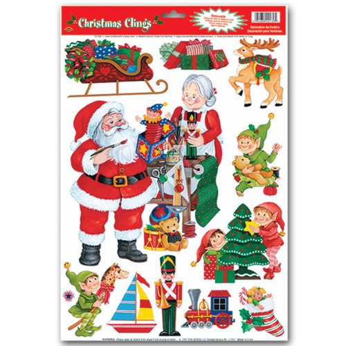 Santa'S Workshop Clings Party Accessory (1 Count) (11/Sh) front-956346