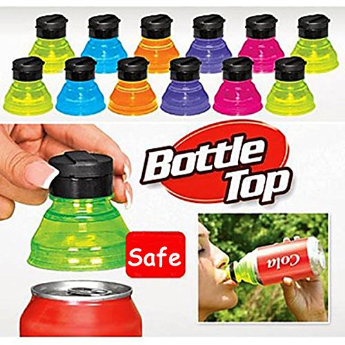 [Free Shipping] 6Pcs Creative Soda Savers Toppers Reusable Bottle Caps Can Convert // 6pcs protectores acolchados de soda creativas tapas de botellas reutilizables pueden convertir (Can Convert compare prices)