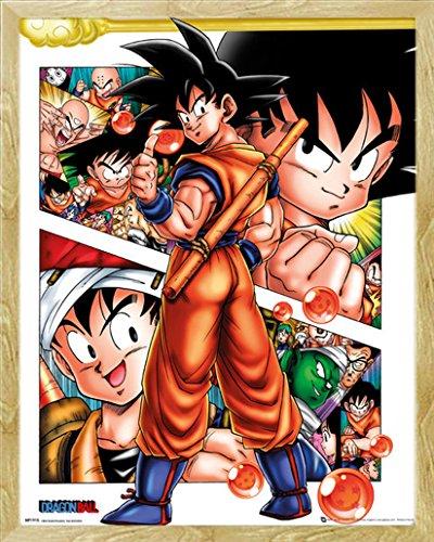 Dragon Ball Mini Poster Collage + accessori Telaio in faggio e MDF