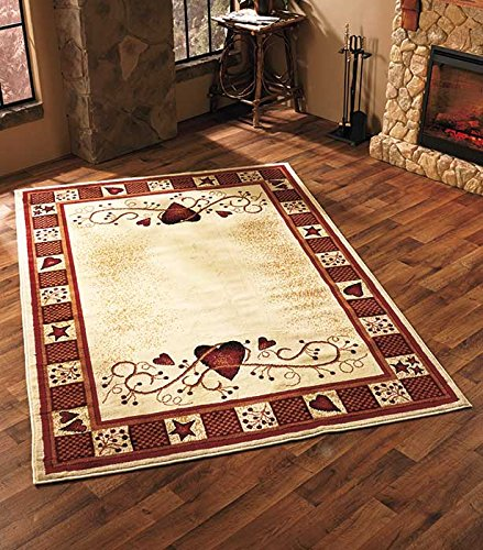 Area Rug with Hearts