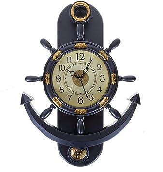 ecraftindia decorative retro anchor plastic pendulum wall clock 31 cm x 3 cm x 39