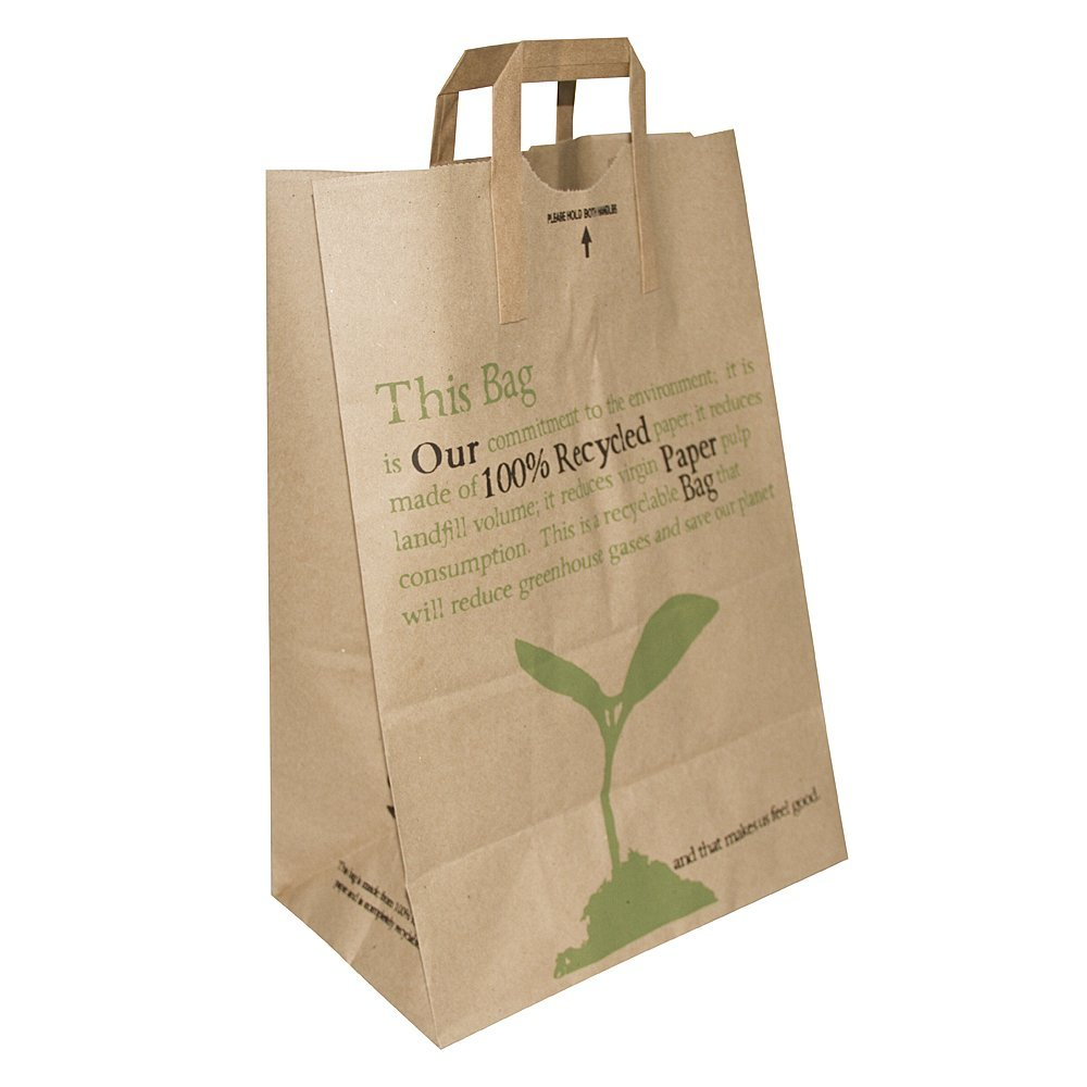 Recycled Paper Shopping Bag with Handle