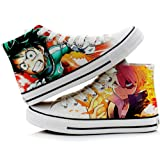 My Hero Academia Izuku Midoriya Katsuki Bakugo Shoto Todoroki Cosplay Shoes Canvas Shoes Sneakers 3 Choices (Color: Picture 3, Tamaño: 6 B(M) US Female)