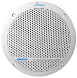 Lanzar AQ6DCW 360 Watts 6.5-Inch Dual Cone Marine Speakers White Color - Set of 2