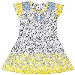 Rush Me Baby Girls' Dress (S.R.1005_4 Years, 4 Years, Gold)