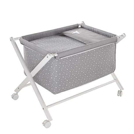 Funny Baby Stars–Minicuna Forbici in Legno di Faggio, Colore: grigio