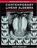 img - for Contemporary Linear Algebra, Student Solutions Manual book / textbook / text book