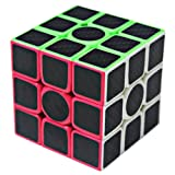 Speed Cube 3x3x3 Carbon Fiber Stickers, Carbon Fiber 3x3, Smooth Magic Cube Puzzles
