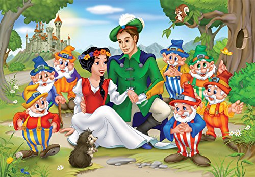 D-Toys Snow White Family Portrait Jigsaw Puzzle, 60-Piece