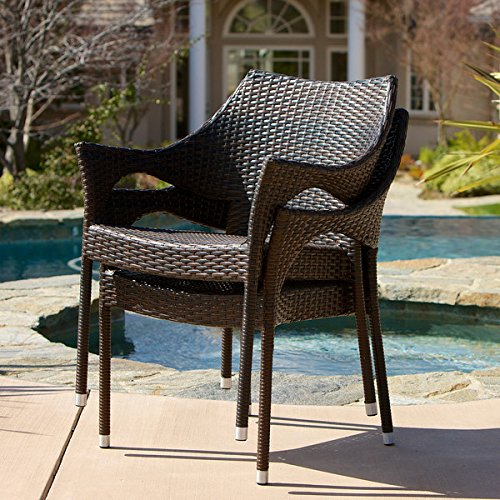 Christopher Knight Home Cliff Outdoor Wicker Chairs Set of 2