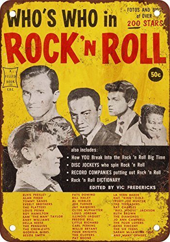 1958-who-s-who-in-rock-n-roll-stile-vintage-riproduzione-in-metallo-tin-sign-305-x-457-cm